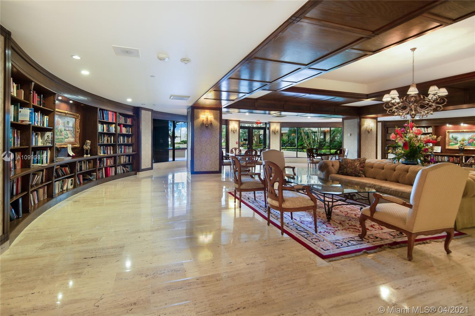 Photo of 9801 Collins Ave #5H, Bal Harbour, Florida, 33154 - Library