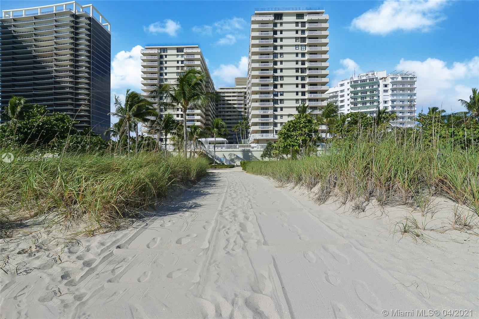 Photo of 9801 Collins Ave #5H, Bal Harbour, Florida, 33154 - Unit 5 H Balcony with Ocean Views and garden