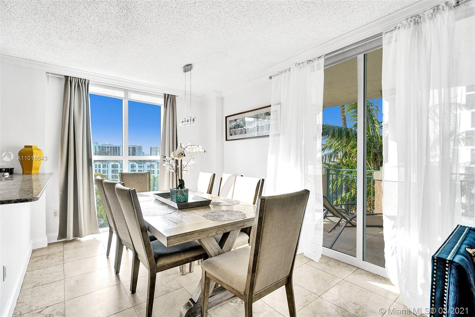 Photo of 17555 Atlantic Blvd #608, Sunny Isles Beach, Florida, 33160 - Kitchen View to the Living Room