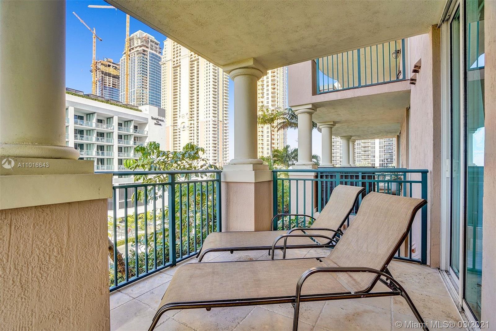 Photo of 17555 Atlantic Blvd #608, Sunny Isles Beach, Florida, 33160 - Balcony with beautiful views