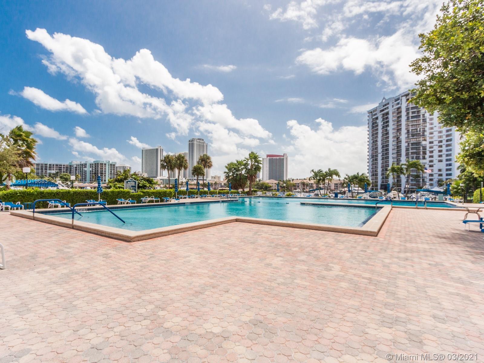 Photo of 2500 PARKVIEW DR. #1406, Hallandale Beach, Florida, 33009 - MARINA POOL