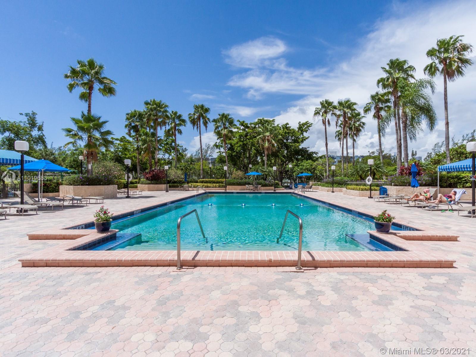 Photo of 2500 PARKVIEW DR. #1406, Hallandale Beach, Florida, 33009 - GARDEN POOL