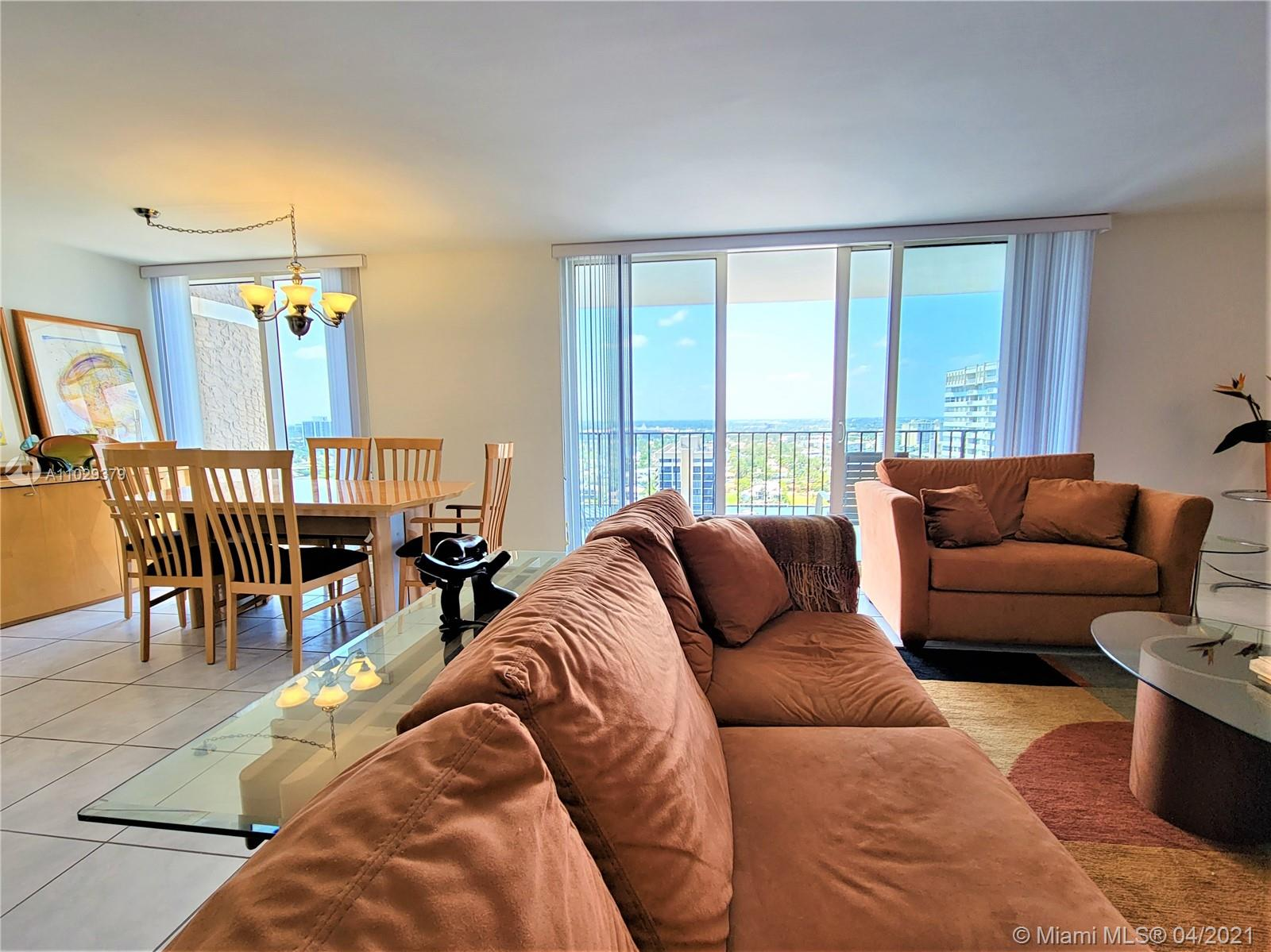 Photo of 2030 Ocean Dr #2026, Hallandale Beach, Florida, 33009 - Floor to Ceiling Picture Window In The Dinng Room For Optimal Views, and Natural Light