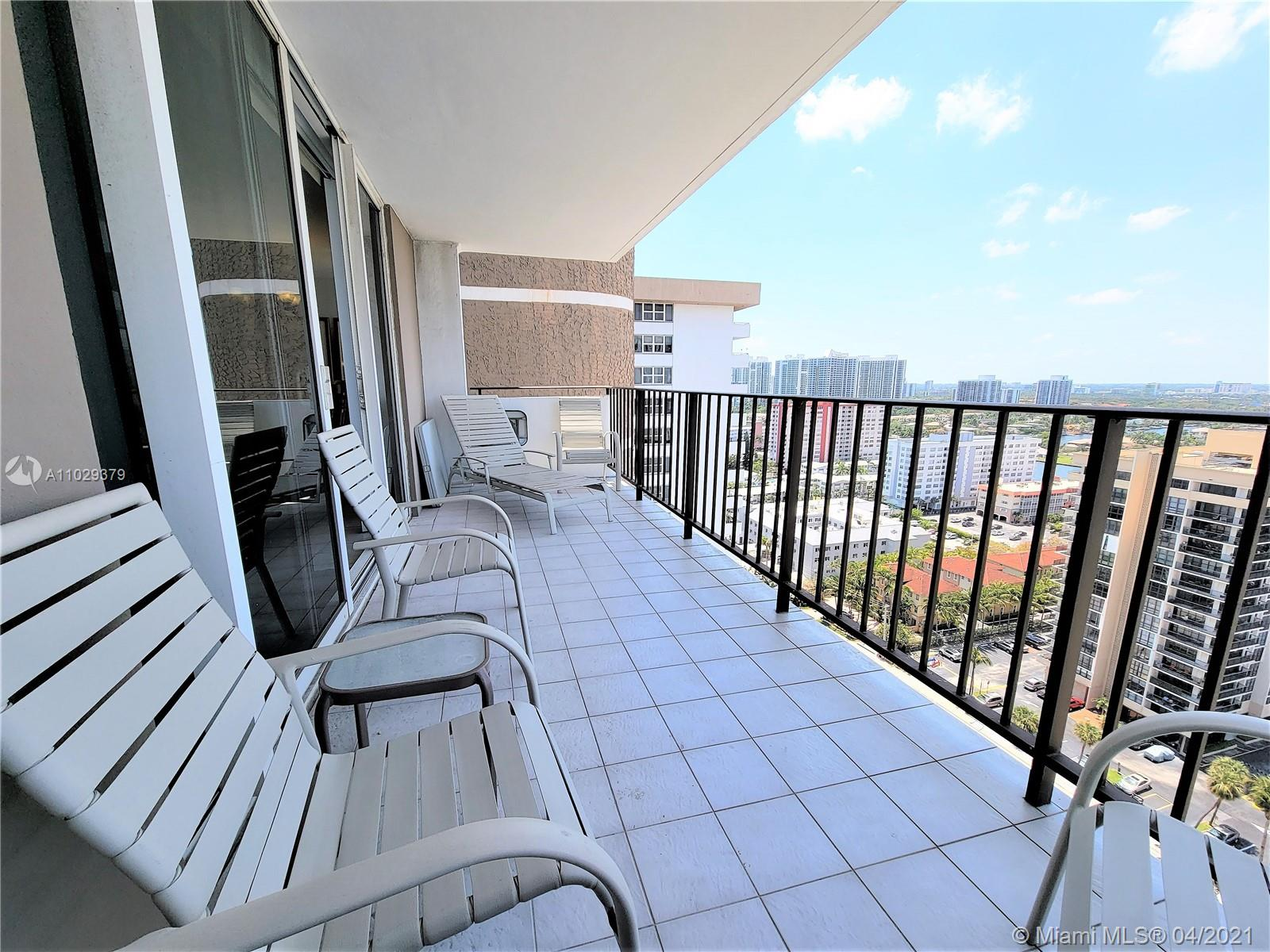 Photo of 2030 Ocean Dr #2026, Hallandale Beach, Florida, 33009 - Balcony, Living & Dining Room View