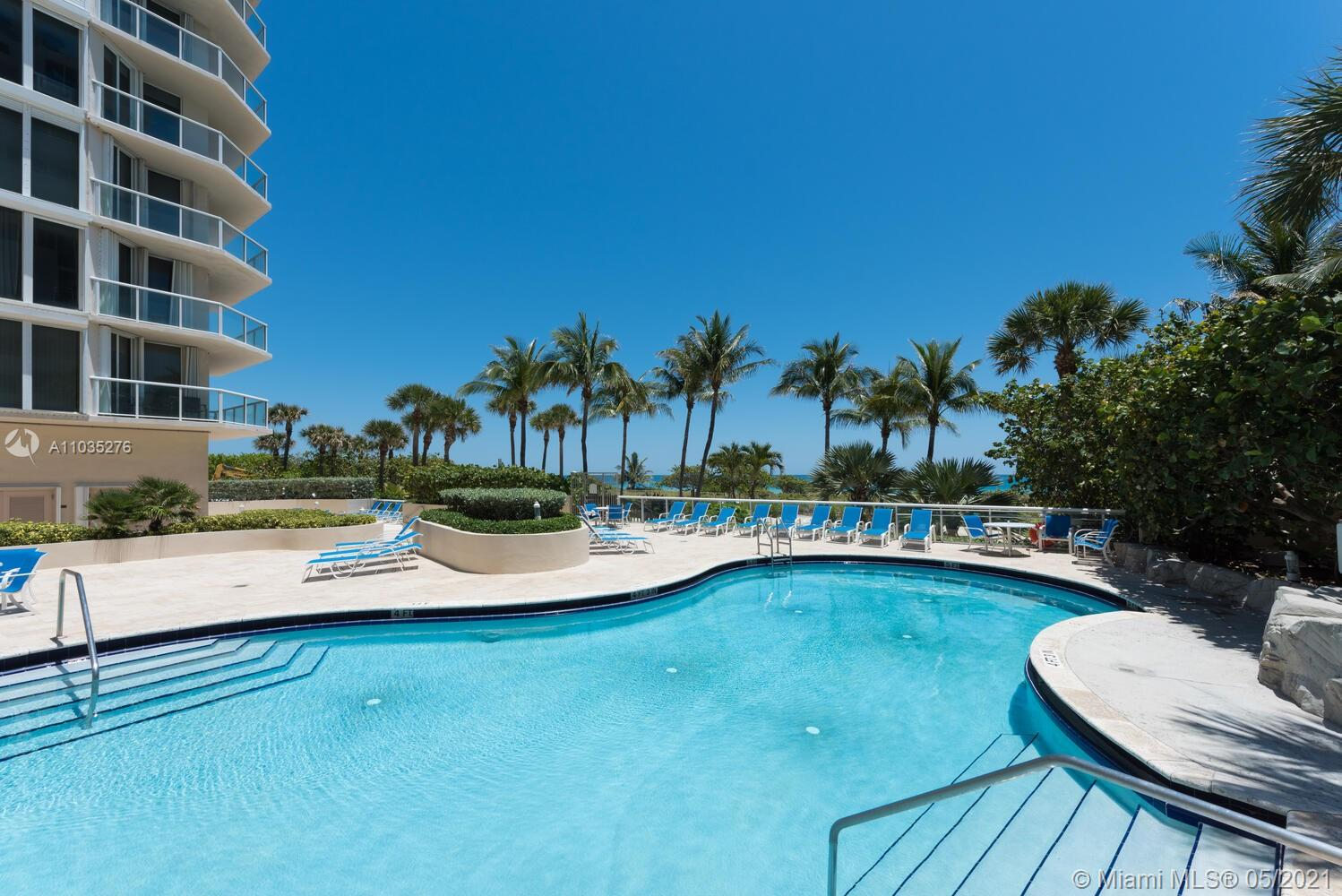 Photo of 8925 Collins Ave #4F, Surfside, Florida, 33154 - Virtually staged bedroom.
