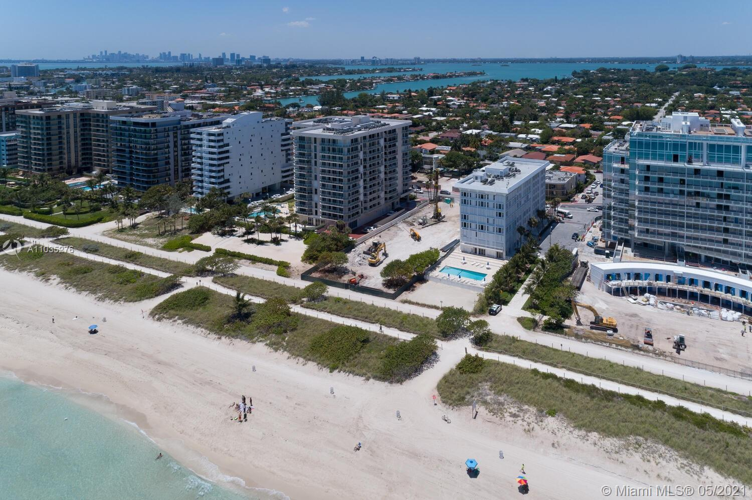 Photo of 8925 Collins Ave #4F, Surfside, Florida, 33154 - View from the ocean.
