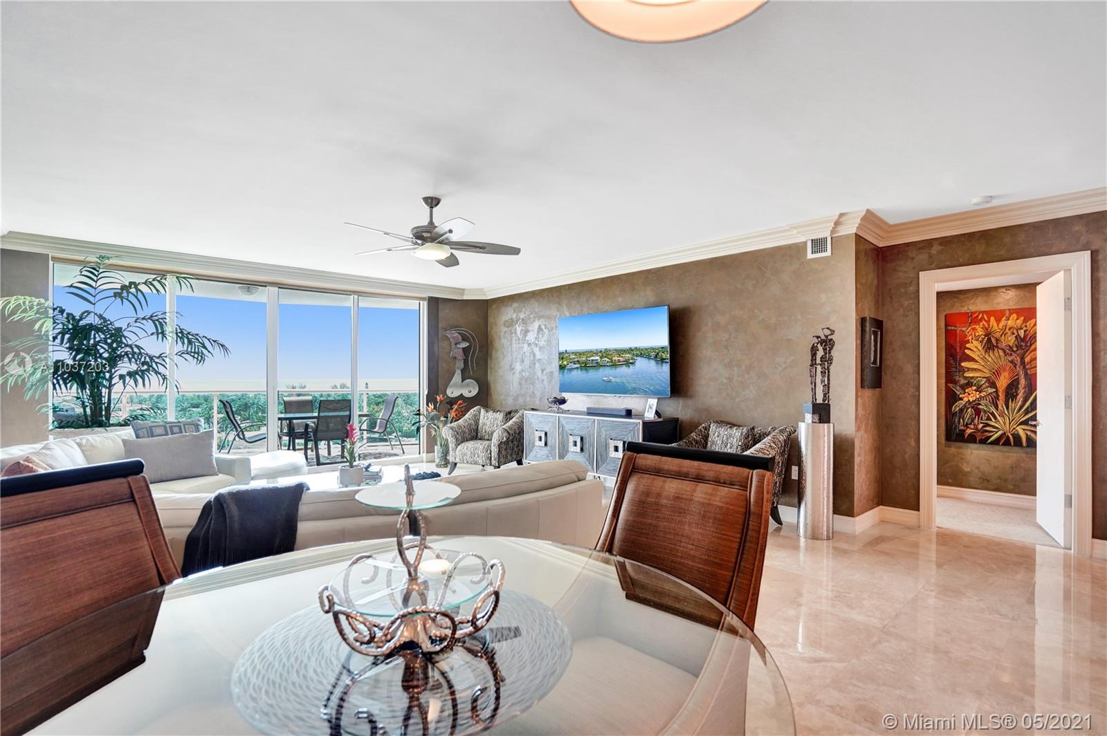 Photo of 20201 Country Club Dr #1006, Aventura, Florida, 33180 - Master bedroom facing the water.