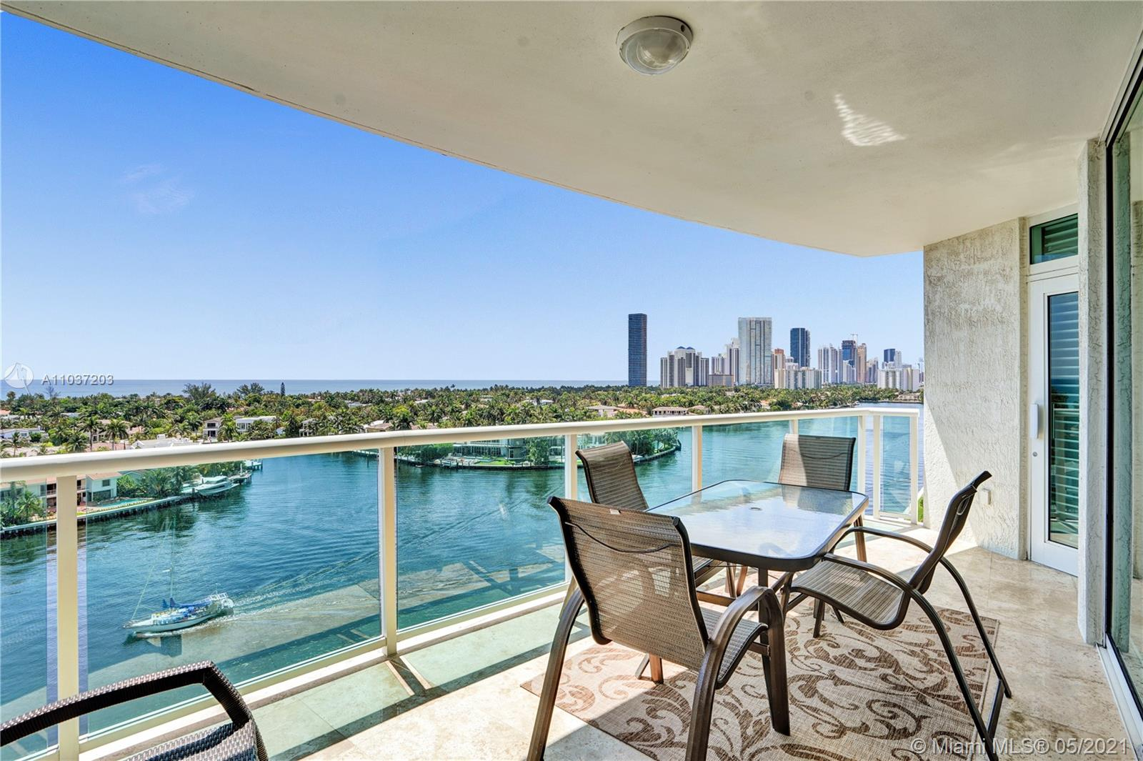 Photo of 20201 Country Club Dr #1006, Aventura, Florida, 33180 - Imagine having lunch in this balcony!