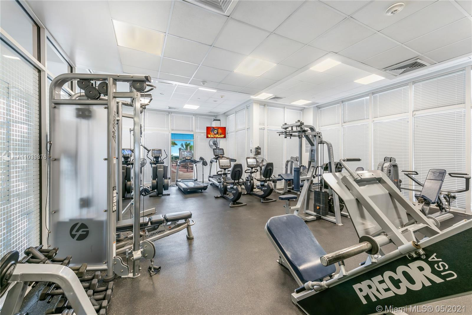 Photo of 10225 Collins Ave #1703, Bal Harbour, Florida, 33154 - Fully-equipped fitness studio.