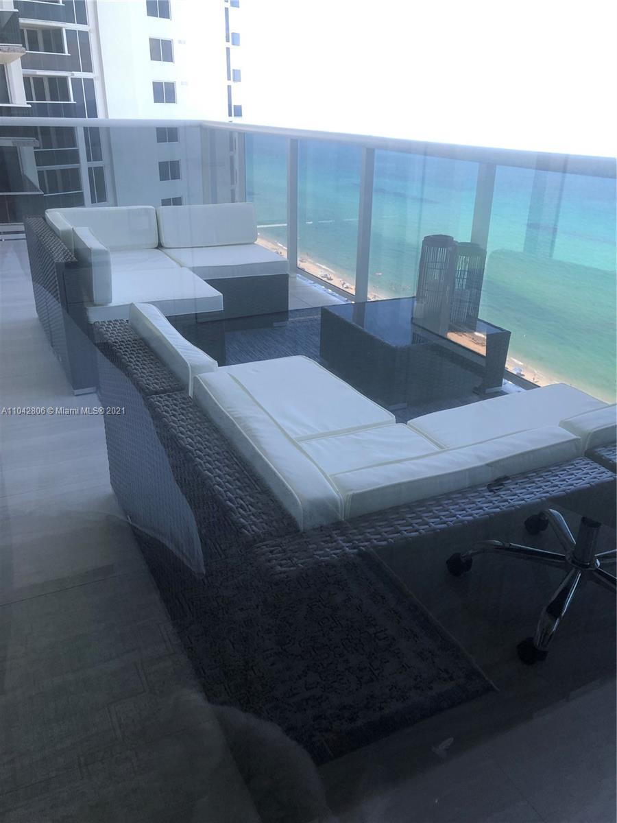 Photo of 19111 Collins Ave #1705, Sunny Isles Beach, Florida, 33160 - balcony facing the Ocean