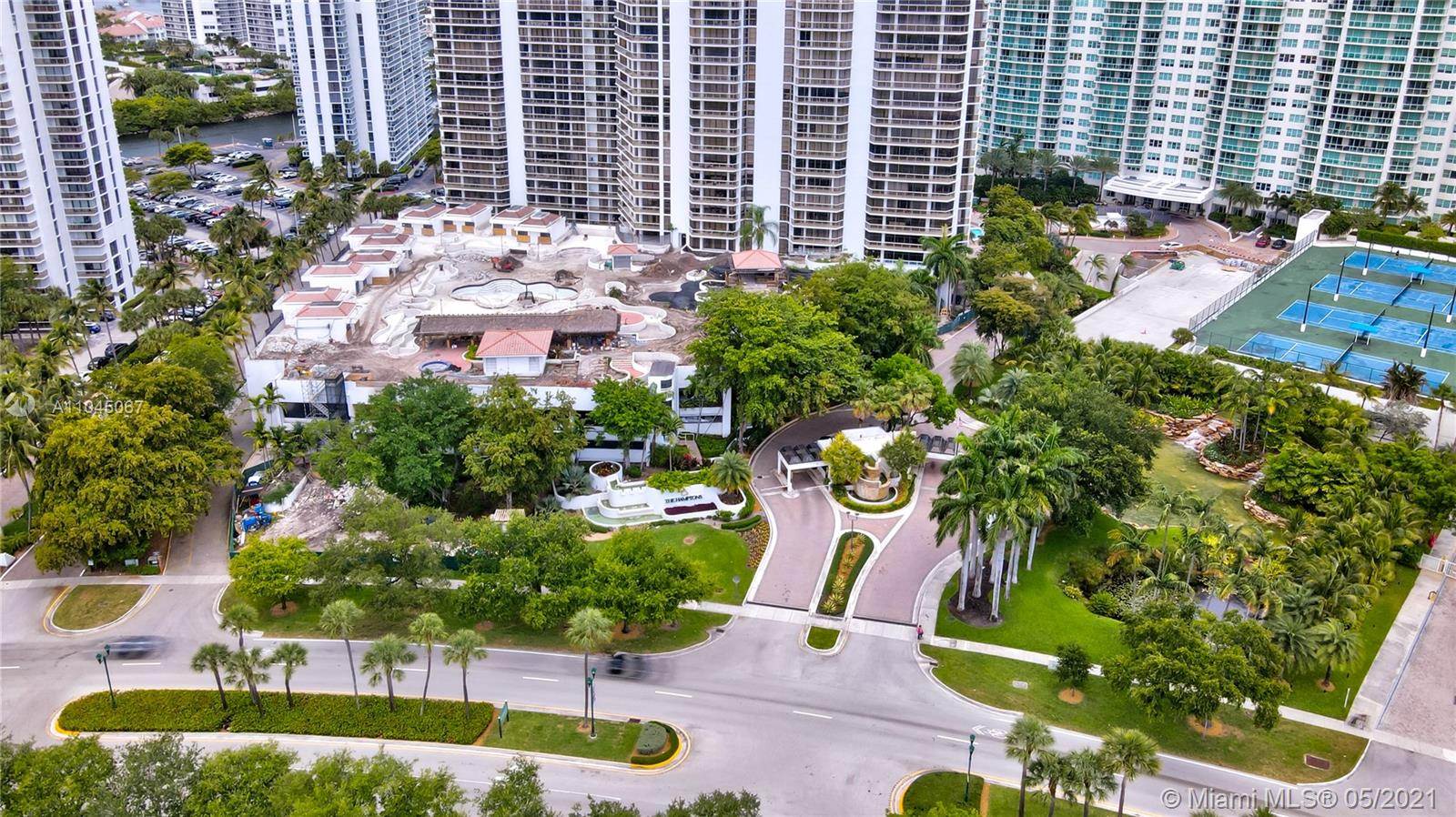 Photo of 20281 Country Club Dr #314, Aventura, Florida, 33180 - Main entry to the Hamptons West and Hamptons South Condominium complex.