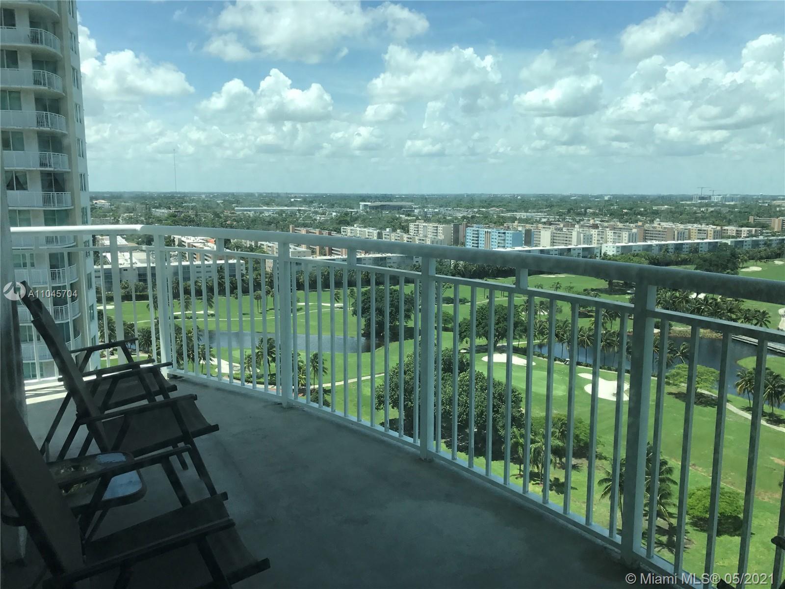 Photo of 1755 Hallandale Beach Blvd #1802E, Hallandale Beach, Florida, 33009 - Balcony to living and master bedroom