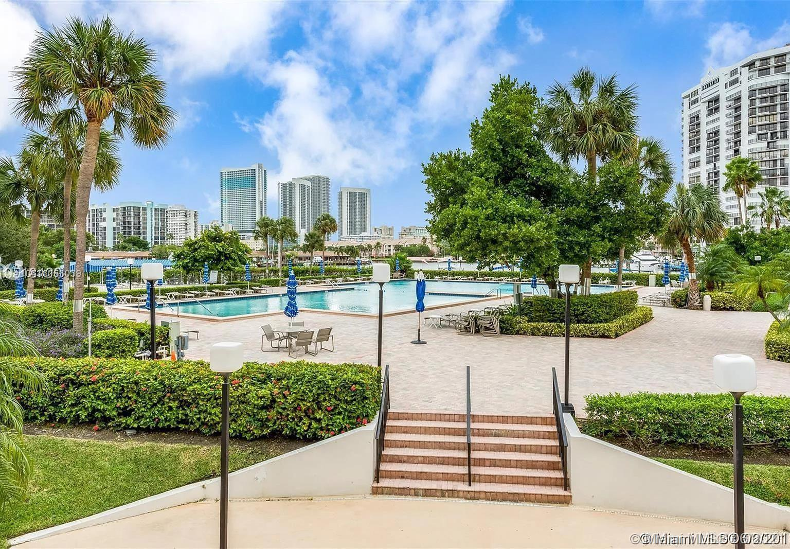 Photo of 600 Three Islands Blvd #312, Hallandale Beach, Florida, 33009 - OLYMPUS MARINA POOL DECK